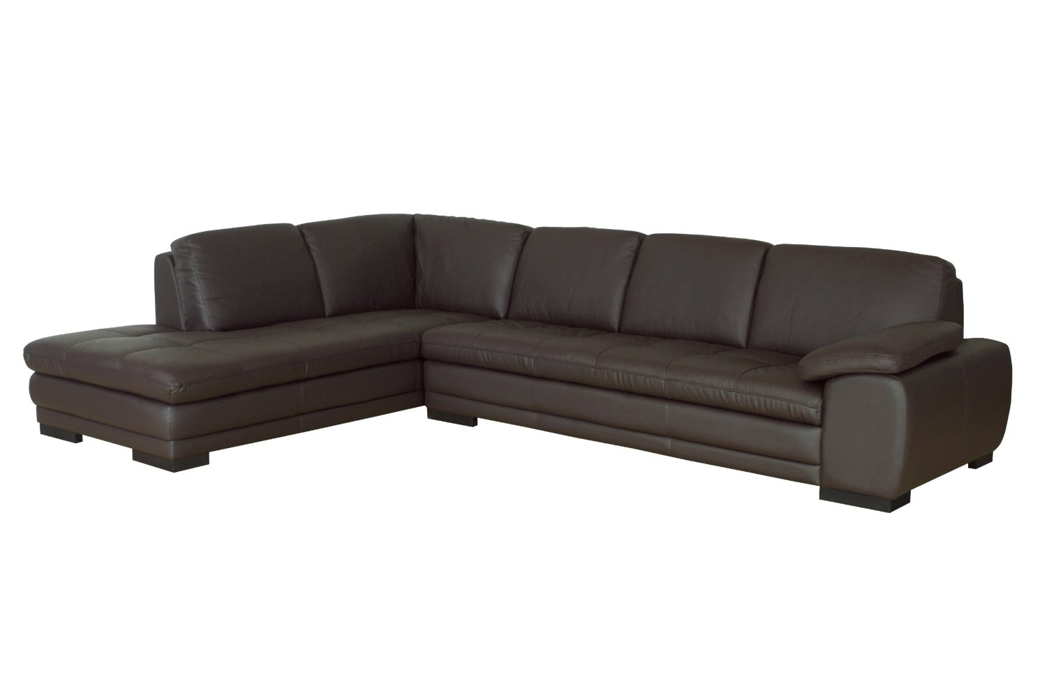 Dark Brown Leather Sectional Sofa 1500 x 1000