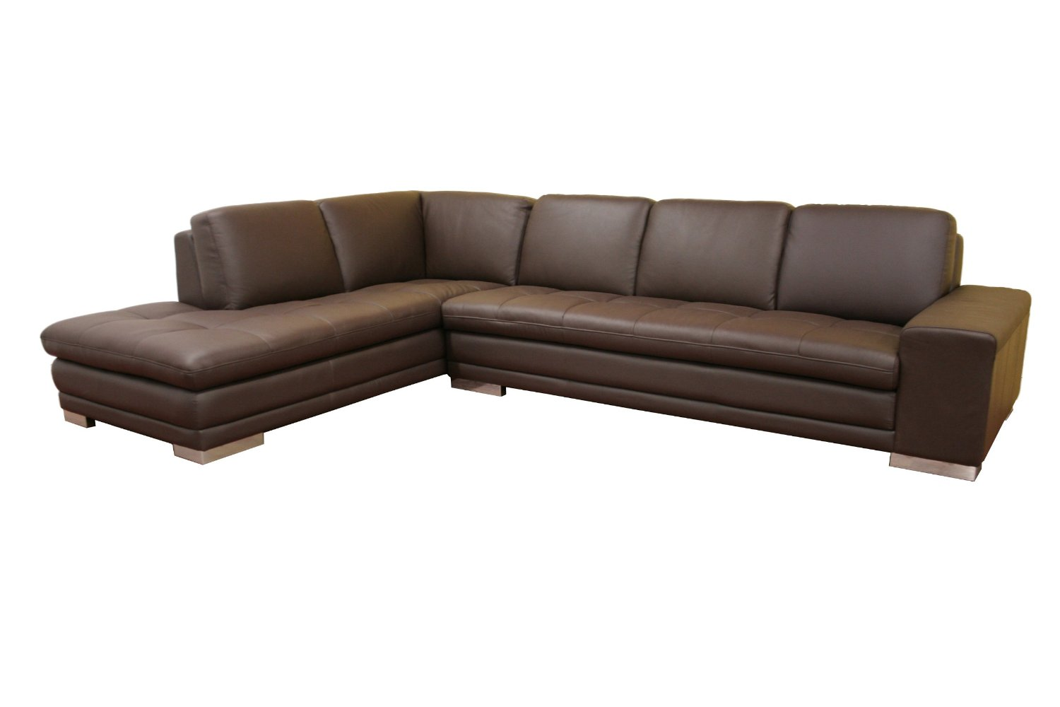Brown Leather Sectional Sofa 1500 x 1000