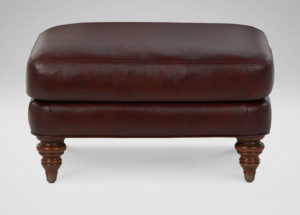 Hyde Leather Ottoman