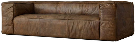Extra Long Brown Leather Couch