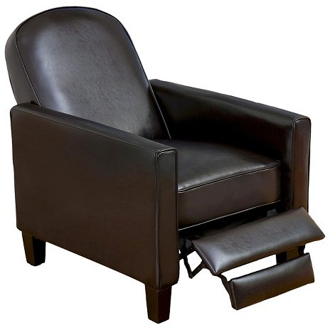 Johnstown Leather Recliner Chocolate Brown - Christopher Knight Home