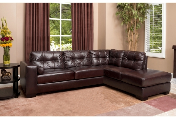 Charmant Abbyson Living Palermo Top Grain Leather Sectional