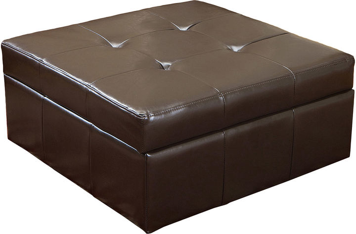 Jcpenney Marley Square Bonded Leather Storage Ottoman