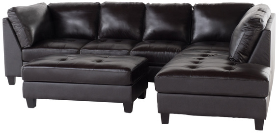 Christopher Knight Home Hemnes 3-piece Tufted Leather Sectional Sofa Set