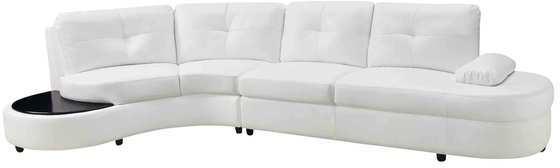 Coaster White Leather Sectional Sofa