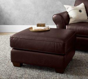 PB Comfort Leather Ottoman