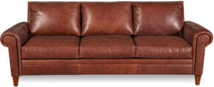 One Kings Lane Jacoby 91 Leather Sofa, Mocha