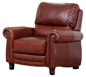 Kinsley Pushback Leather Recliner - Abbyson Living