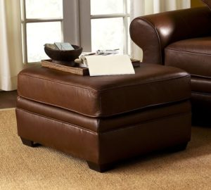 Pearce Leather Ottoman