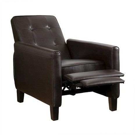 Ethan Tufted Bonded Leather Recliner Chair - Christopher Knight Home