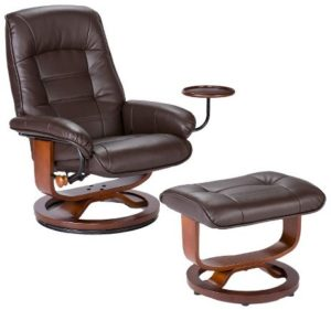 Bonded Leather Recliner and Ottoman - Southern Enterprises