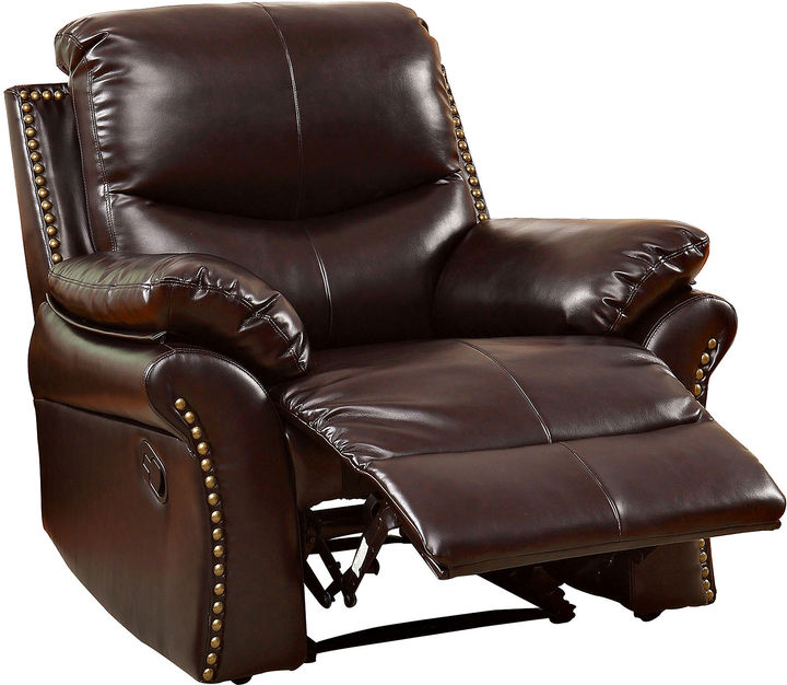 Best Brand Chairs: Asstd National Brand Dunlap Faux-Leather Recliner