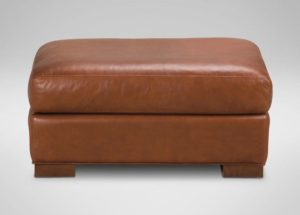 Hudson Leather Ottoman