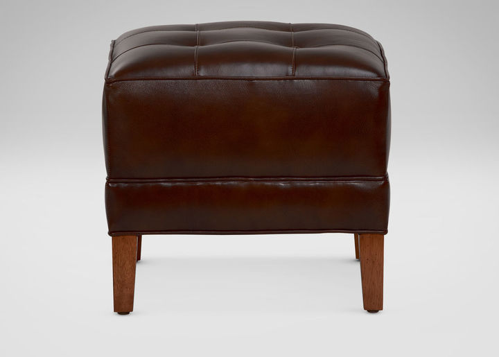 Nassau Square Leather Ottomans