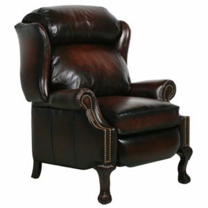 Barcalounger Danbury II Stetson Bordeaux Leather Recliner