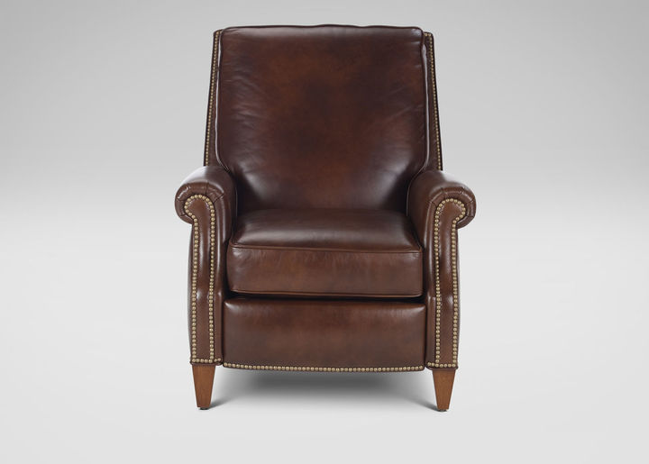 Colburn Leather Recliner, Omni/Brown