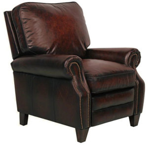 Barcalounger Briarwood II Stetson Bordeaux Leather Recliner