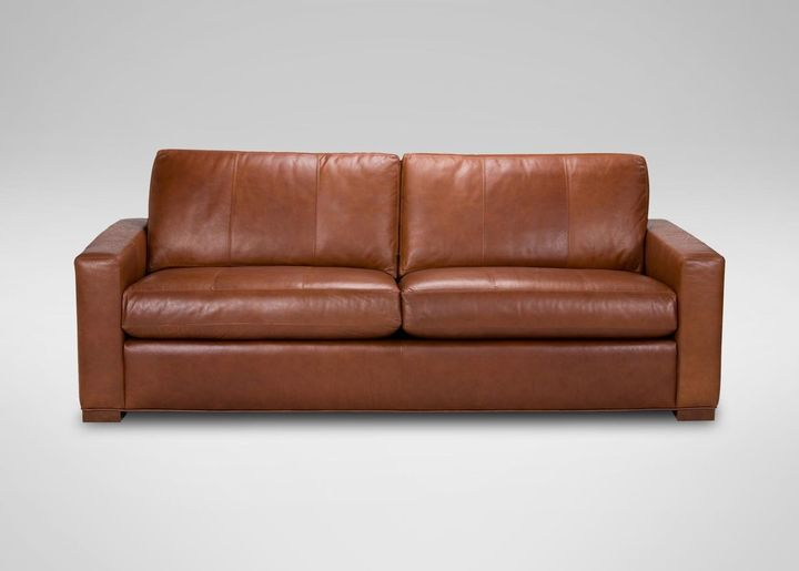 Charmant Ethan Allen. Hudson Leather Sofa