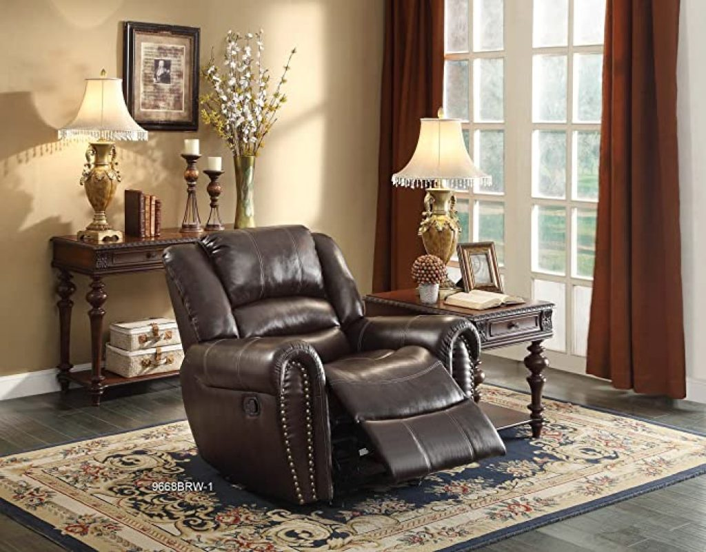 Homelegance Center Hill Bonded Leather Double Reclining Sofa